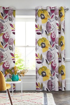 Dolce Floral Eyelet Curtains