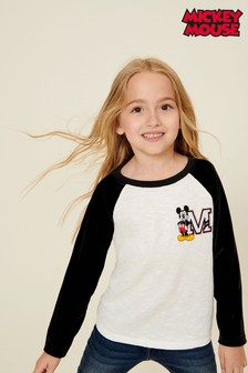 Mickey Mouse™ Velour Raglan Sleeve T-Shirt (3-16yrs)