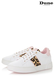 Dune London Pink Side Stripe Sport Trainer