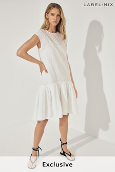 Mix/Huishan Zhang Aline Broderie Dress
