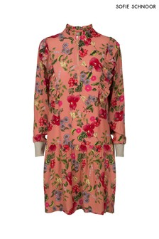 Sofie Schnoor Coral Floral Ruffle Dress