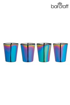 Set of 4 Barcraft Rainbow Shot Glasses