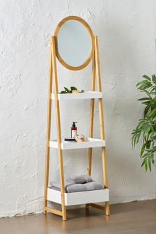 Three Shelf Mirror Storage Unit