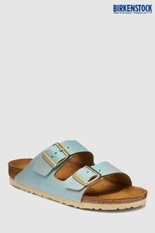 Birkenstock® Women's Washed Metallic Aqua Arizona Sandal