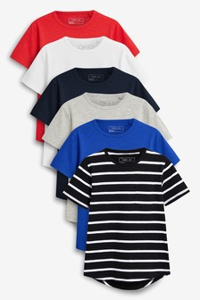 497d4166b103 Short Sleeve T-Shirts Six Pack (3-16yrs)