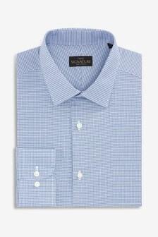 Signature Mini Check Slim Fit Shirt