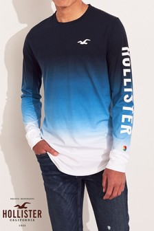 Hollister Navy Ombre T-Shirt
