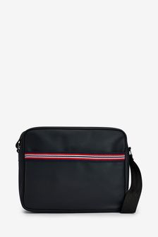 Striped Web Messenger Bag