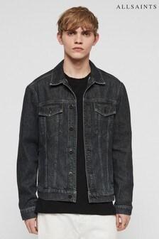 AllSaints Black Wash Denim Jacket