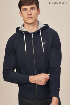 GANT Navy Original Full Zip Sweat Hoody