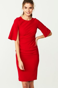 Split Sleeve Compact Dress