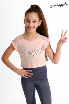 Розовая двухслойная футболка с сетчатой вставкой Pineapple