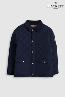 Hackett KIds Navy Blue Quilted Paddock Jacket