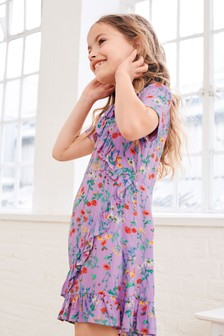 Printed Wrap Dress (3-16yrs)