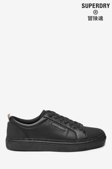 Superdry Black Lace-Up Trainers