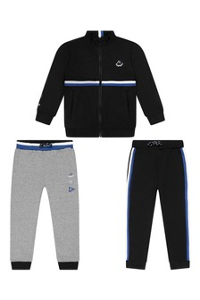 Boys Navy/Grey Tracksuit Set
