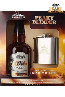 Peaky Blinders Whiskey And Hip Flask Gift Set