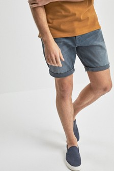 Shorts de denim lavado Chalk