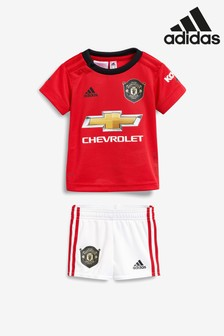 adidas Red Manchester United FC 19/20 Home Baby Mini Kit
