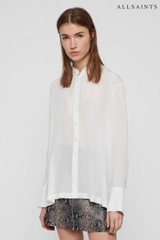 All Saints White Anya Shirt
