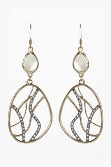 Sparkle Detail Drop Earrings