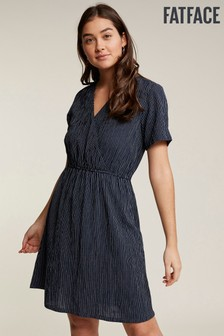FatFace Blue Victoria Stripe Dress