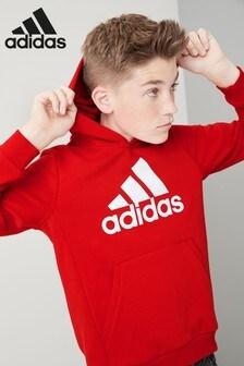 adidas Red Overhead Hoody