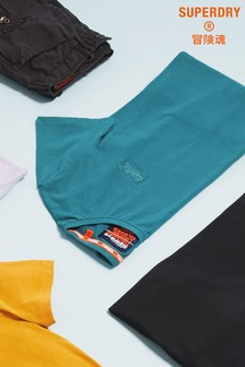 Superdry Blue Small Logo Tee