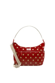 Cath Kidston® Red Heywood Button Spot Shoulder Bag