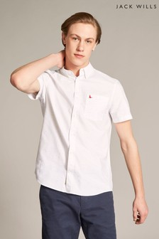Jack Wills White Emmerson Nep Short Sleeve Shirt