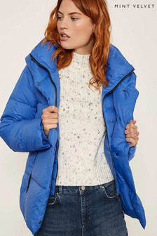 Mint Velvet Blue DB Padded Jacket