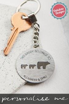 Personalised Daddy Baby Bears Keyring by Oakdene Designs