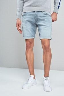 Chalk Wash Denim Shorts