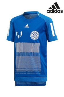 adidas Blue Messi Icon T-Shirt