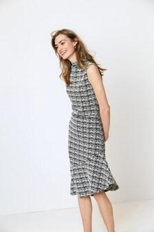 Frill Hem Jersey Dress