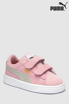 Puma® Pink Suede Classic Infant Velco Trainer