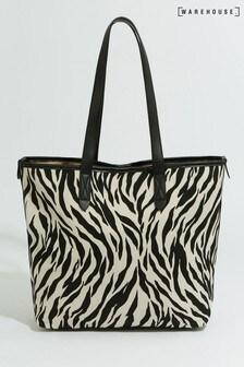 Warehouse Shopper-Tasche in Animalprint