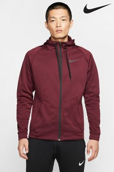 Nike Maroon Therma Zip Through Training Hoody