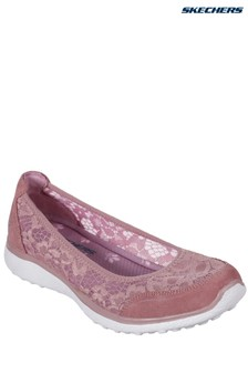 Skechers® Pink Microburst Lace Shoe