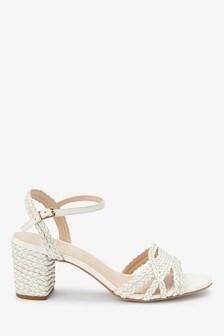 Signature Plait Block Sandals