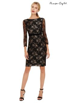 Phase Eight Black Jules Lace Dress With Sleeve