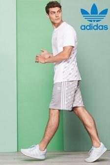 adidas Originals Shorts mit Monogramm, grau
