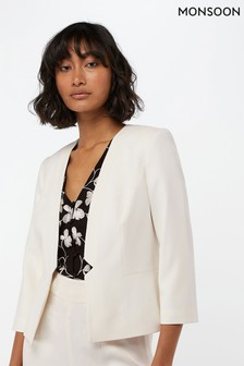 Monsoon Ladies White Nola Jacket