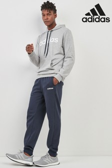 adidas Grey Linear Fleece Tracksuit