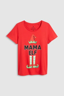 Womens Mama Elf T-Shirt