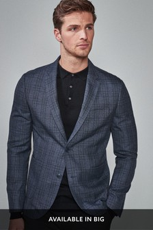 Check Slim Fit Blazer