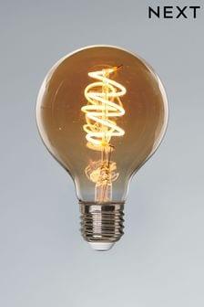 4W LED ES Retro Spiral Globe Bulb