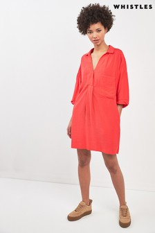 Whistles Coral Lea Pocket Dress