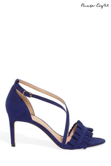 Phase Eight Blue Romy Ruffle Sandal