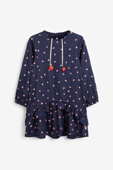 Billieblush Navy Strawberry Dress